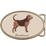Bloodhound Dog Belt Buckle. Code A0066